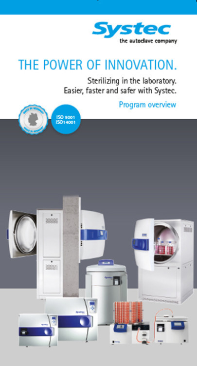 New Brochure Features a Wide Range of Autoclaves and Media Preparators