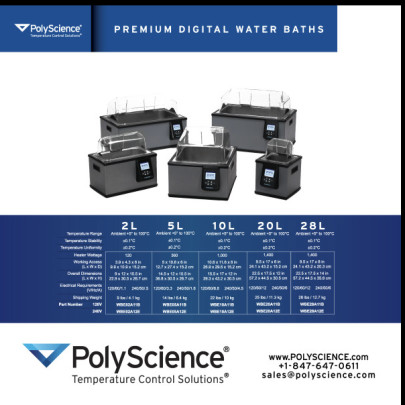 The new PolyScience Premium Digital Water Baths: Quality, Innovation, Convenience, Durability and Safety