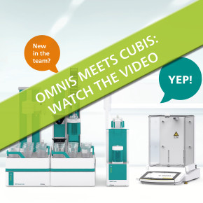OMNIS from Metrohm meets CUBIS II from Sartorius